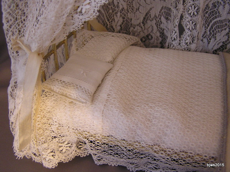 Delicate Lace Canopy Bed