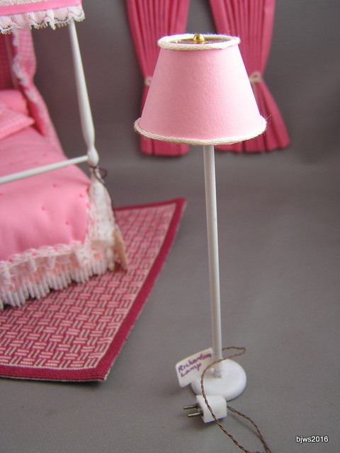 Warren Richardson Floor Lamp, Pink Shade