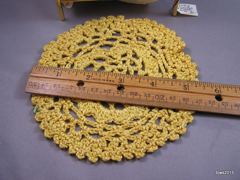 Gold Crocheted Throw Rug