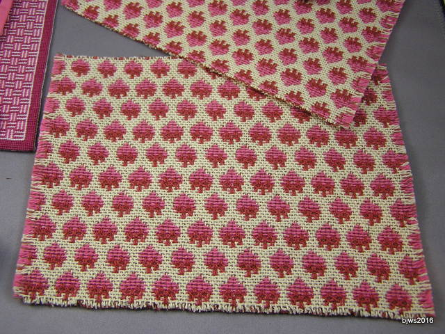 Tapestry Rugs, Rose and Pinks, Set of 3