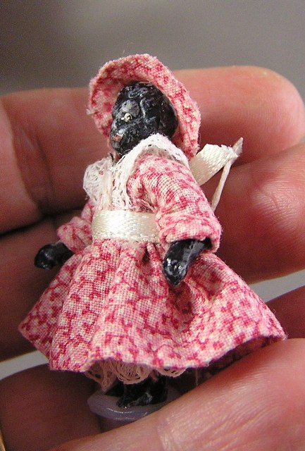 Bisque Doll in Pink Dress