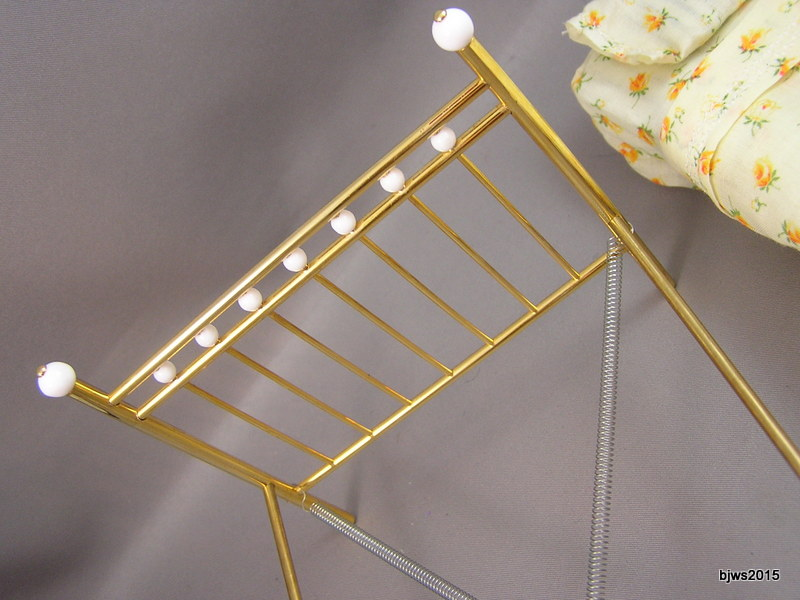 Brass Bed with Porcelain Knobs: discontinued