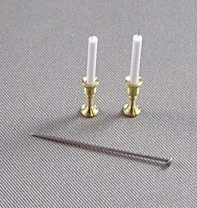 Turned Brass Candlesticks