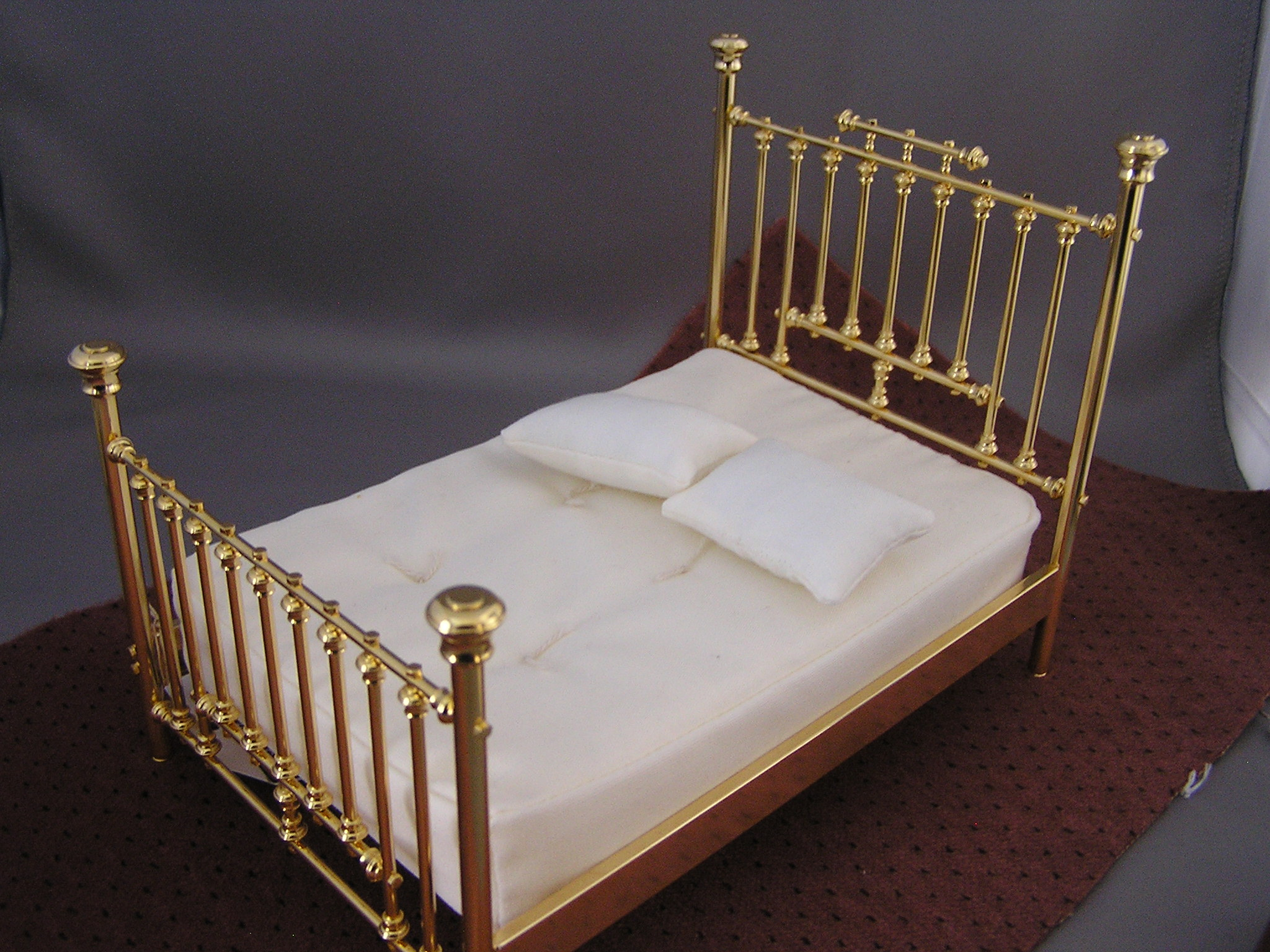 Clare Bell Brass Fancy Bed Twin New Click To Enlarge
