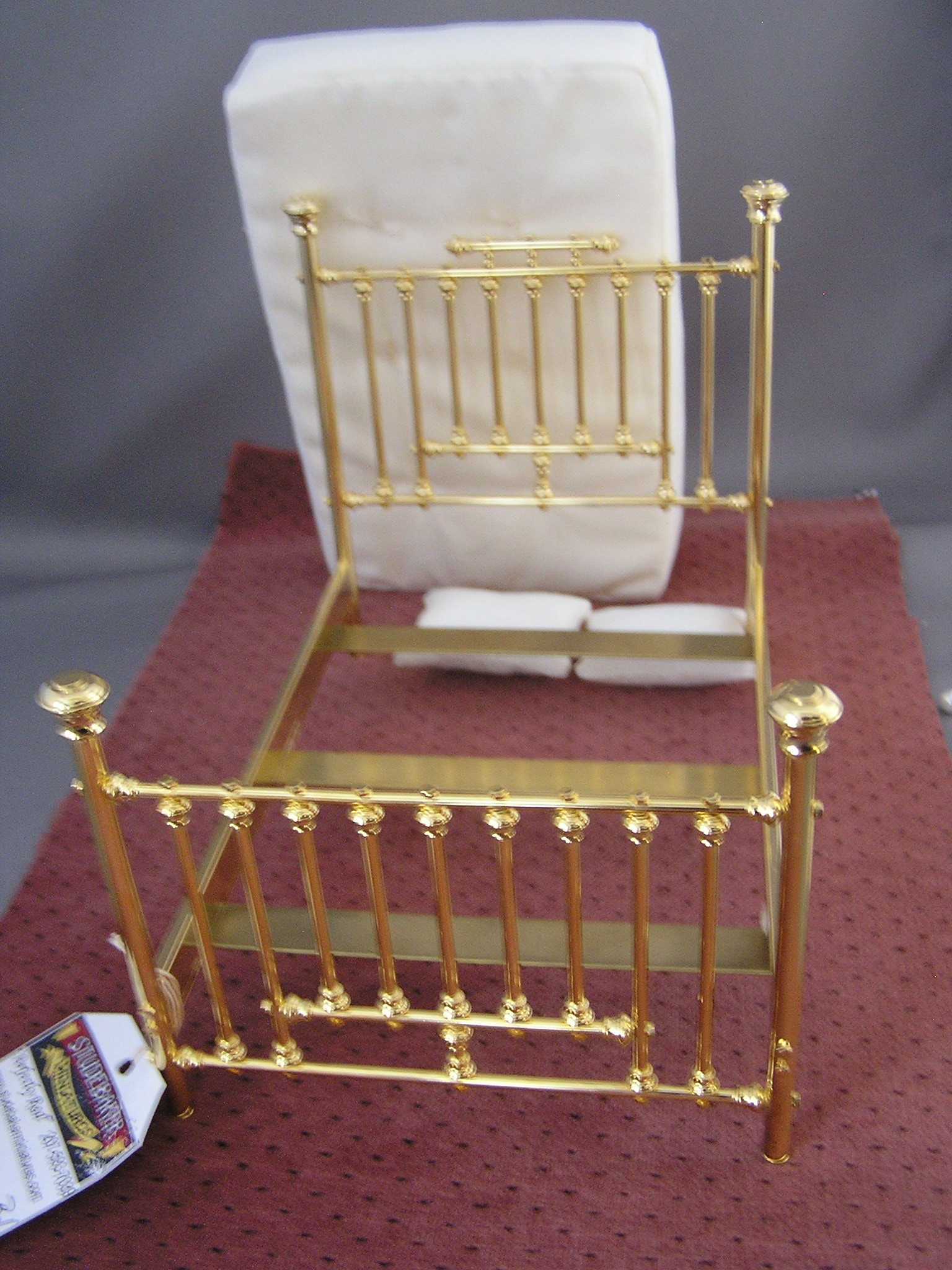 clarebell brass fancy bed twin new click to enlarge - Brass Beds