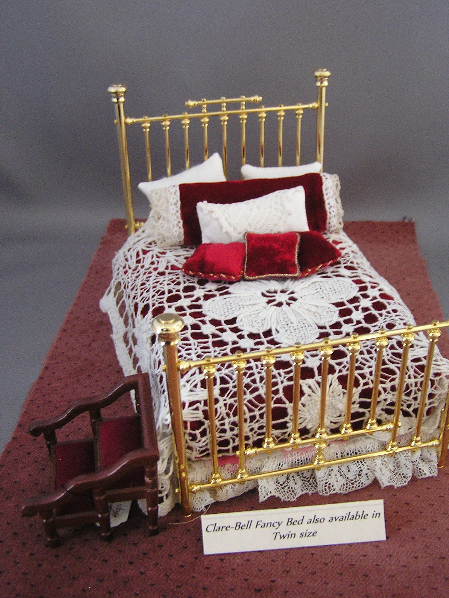 Potpourri-filled Mattress: for Clare Bell Brass Beds
