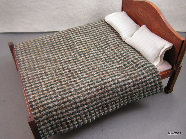 Wool Blanket, Browns and Greens
