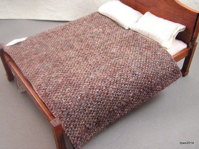 Brown and Burgundy Basket Weave Blanket