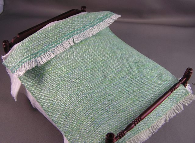 Green Cotton Woven Blanket