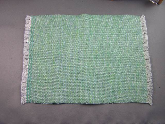 Green Cotton Woven Blanket - Click Image to Close