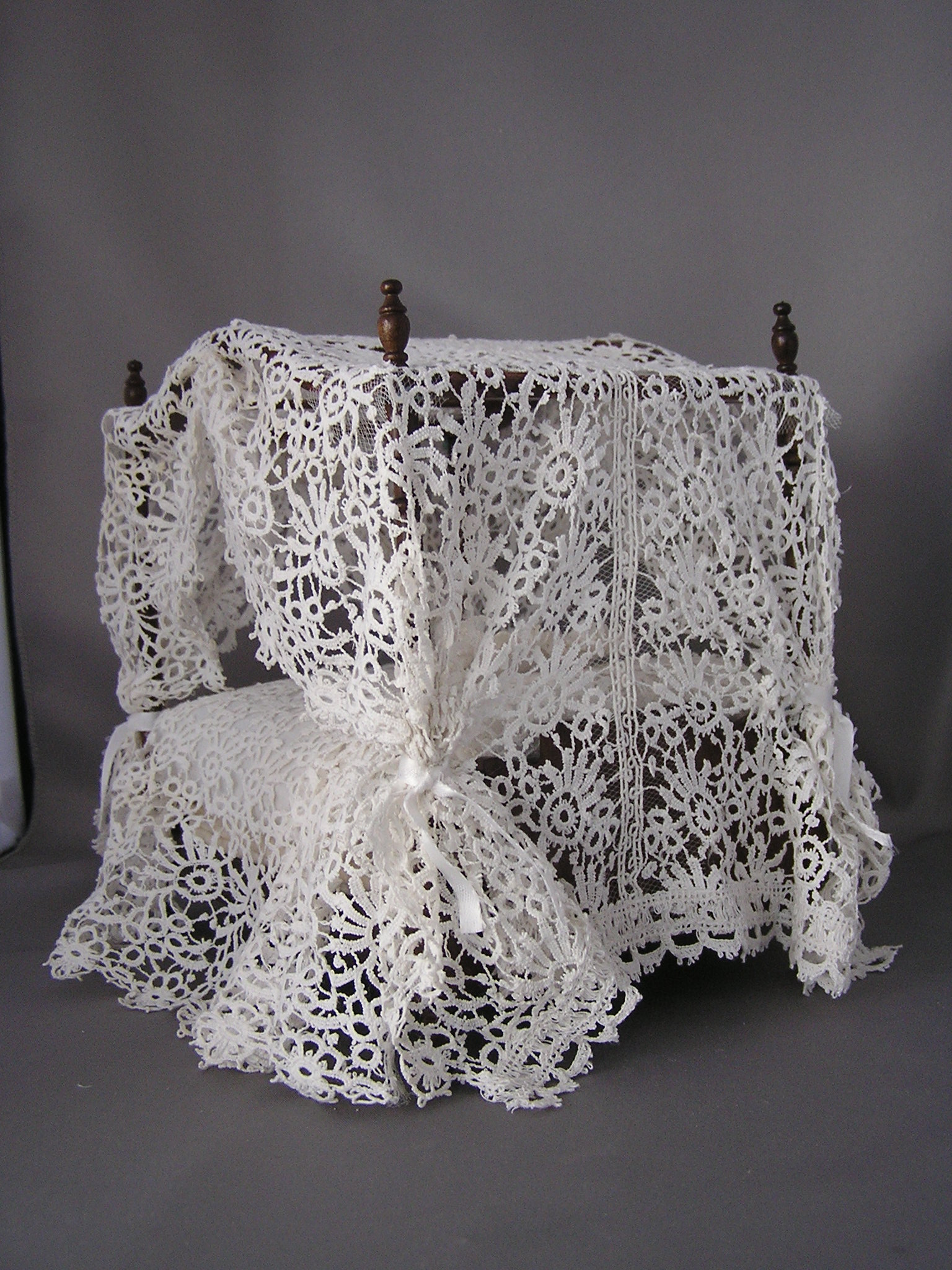 White Lace Canopy Bed