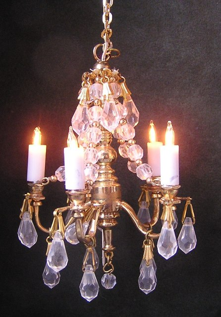 Crystal Chandelier attributed to Phyllis Tucker MSV08 - Click Image to Close