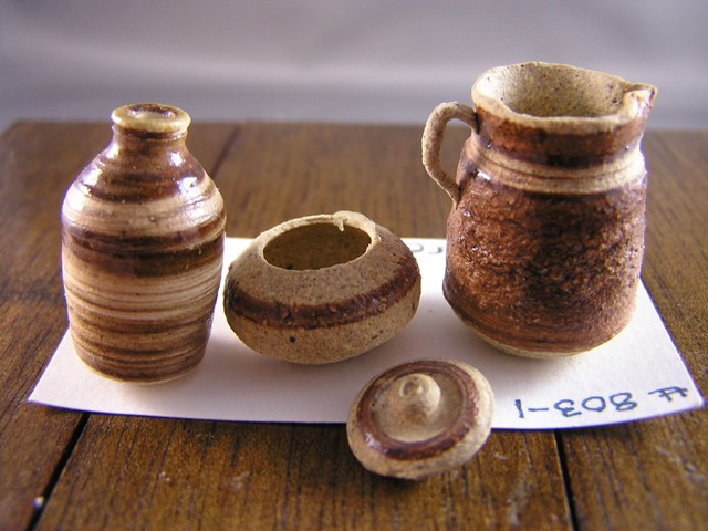 Set of Stoneware - Click Image to Close
