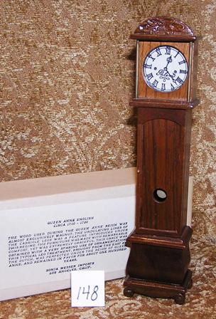 Queen Anne Handcarved Deluxe Tall Clock #148
