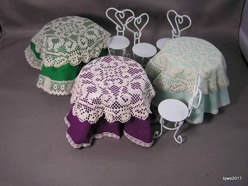 Tablecloth and Lace Topper Set