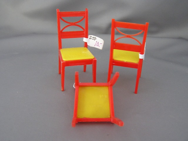 Renwal Red and Yellow Kitchen Chair #53