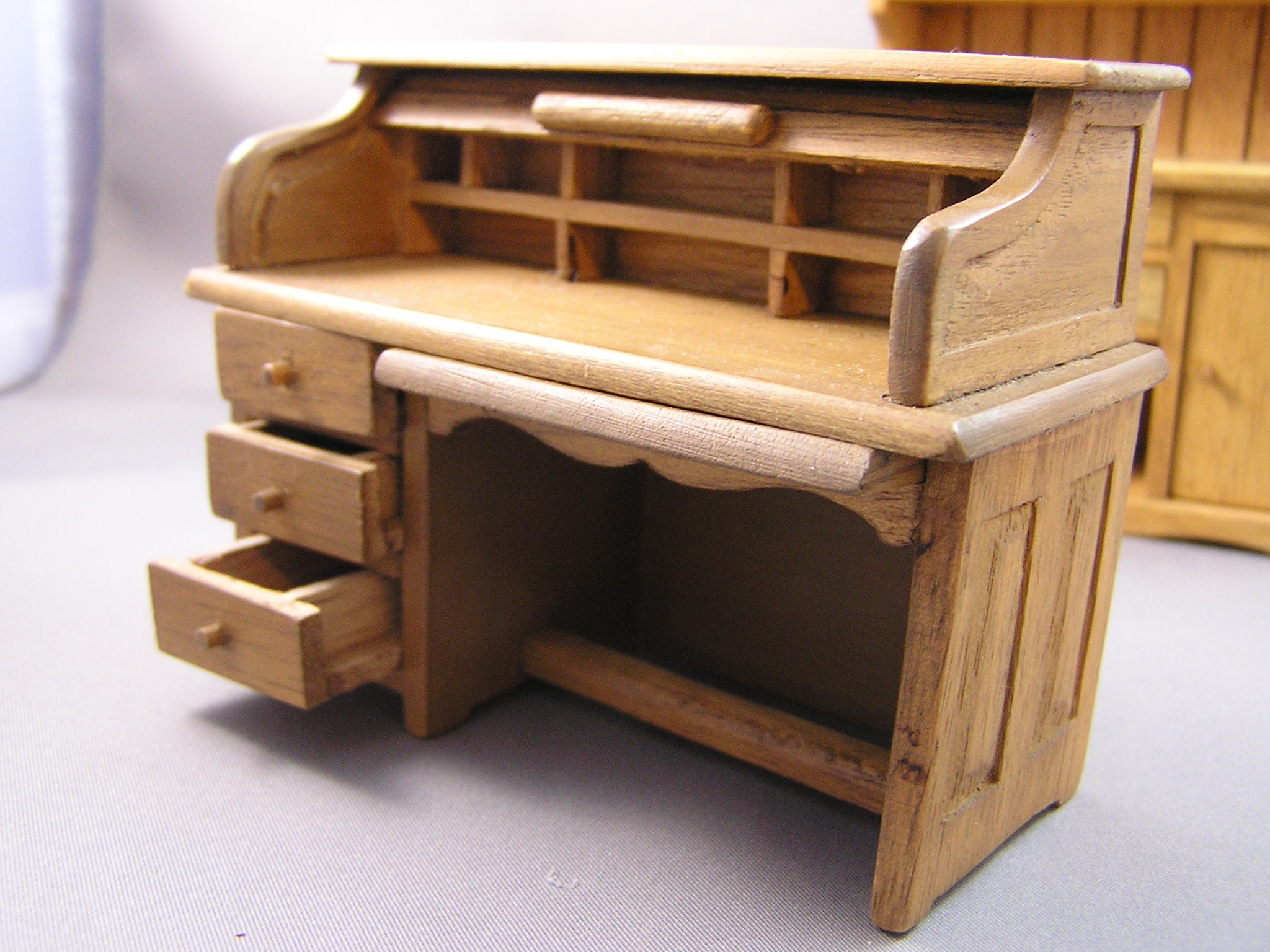 Early American Roll Top Desk by Sonia Messer #450 - Click Image to Close