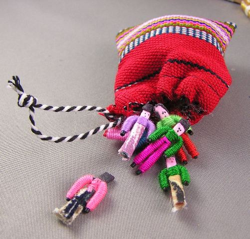 Santa's Bag with Guatemalan Worry Dolls