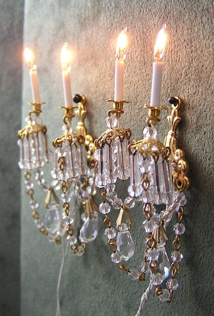 Crystal Wall Sconces by Phyllis Tucker MSV06