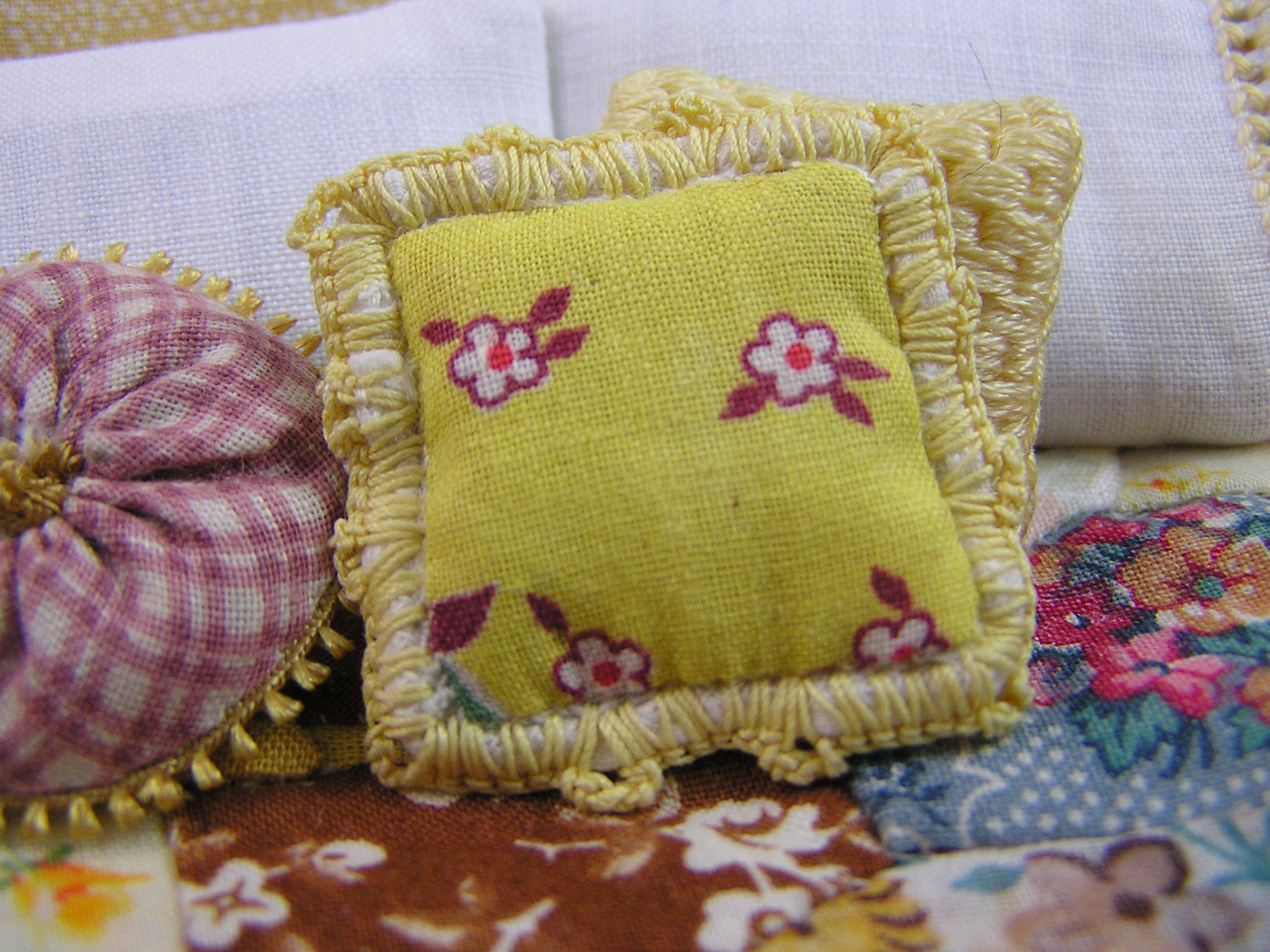Crochet-trimmed Country Throw Pillow