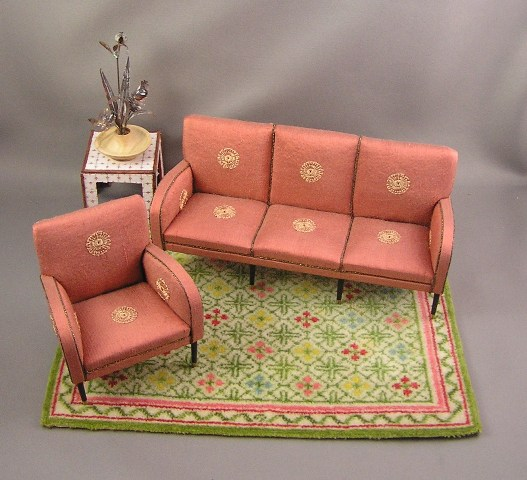 Mid-Century Modern Sofa and Chair