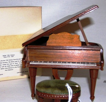 Italian Handcarved Walnut Grand Piano #749