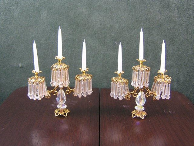 Pair of Crystal Candelabra, Phyllis Tucker MSV09