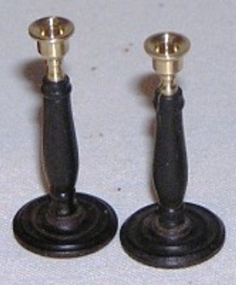 Ebony and Brass Candlesticks #1