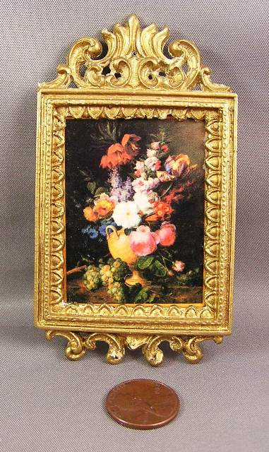Floral Picture in Fancy Gold Frame