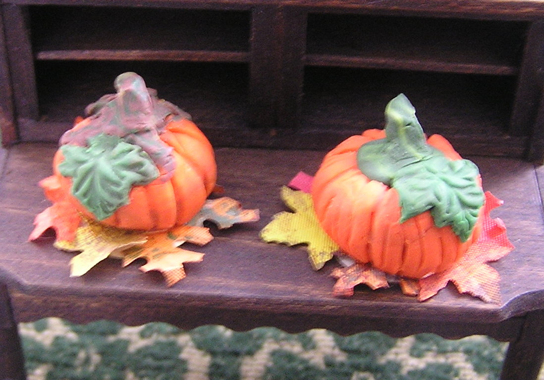 Two OOAK Pumpkins by Barbara
