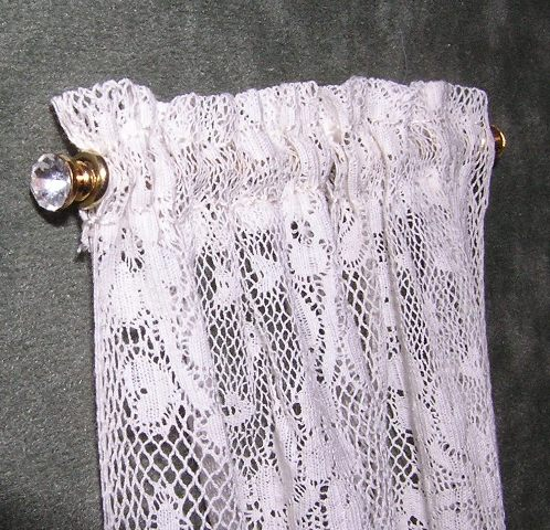 Lace Curtains with Crystal Rods