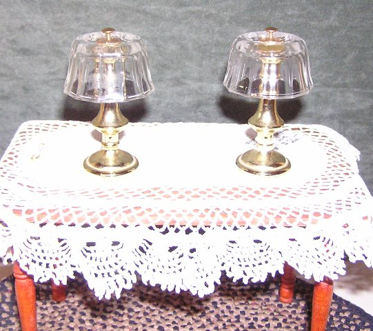 "Table Lamps, Non-electric, 1:6"" Scale"