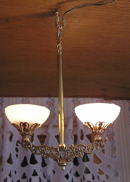 "Electrified Gas Ceiling Lamp, 1:6"" Scale"