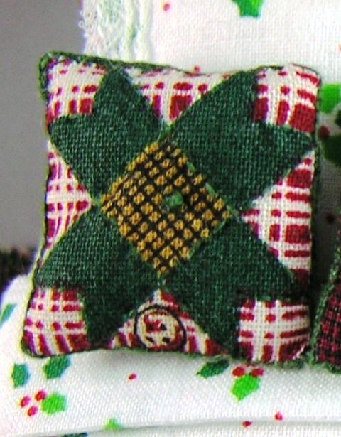 Quilted-look Throw Pillow #1