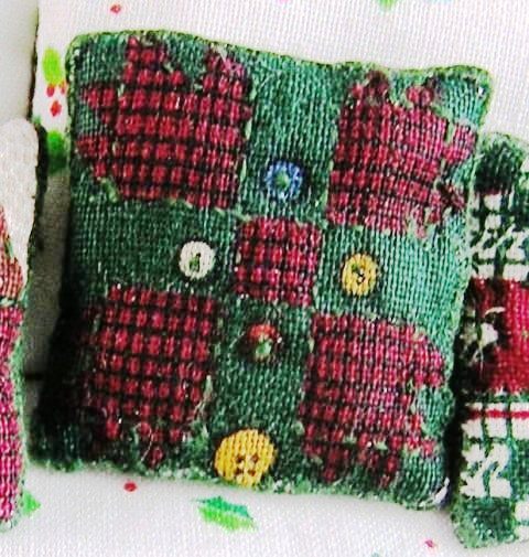 Quilted-look Throw Pillow #3