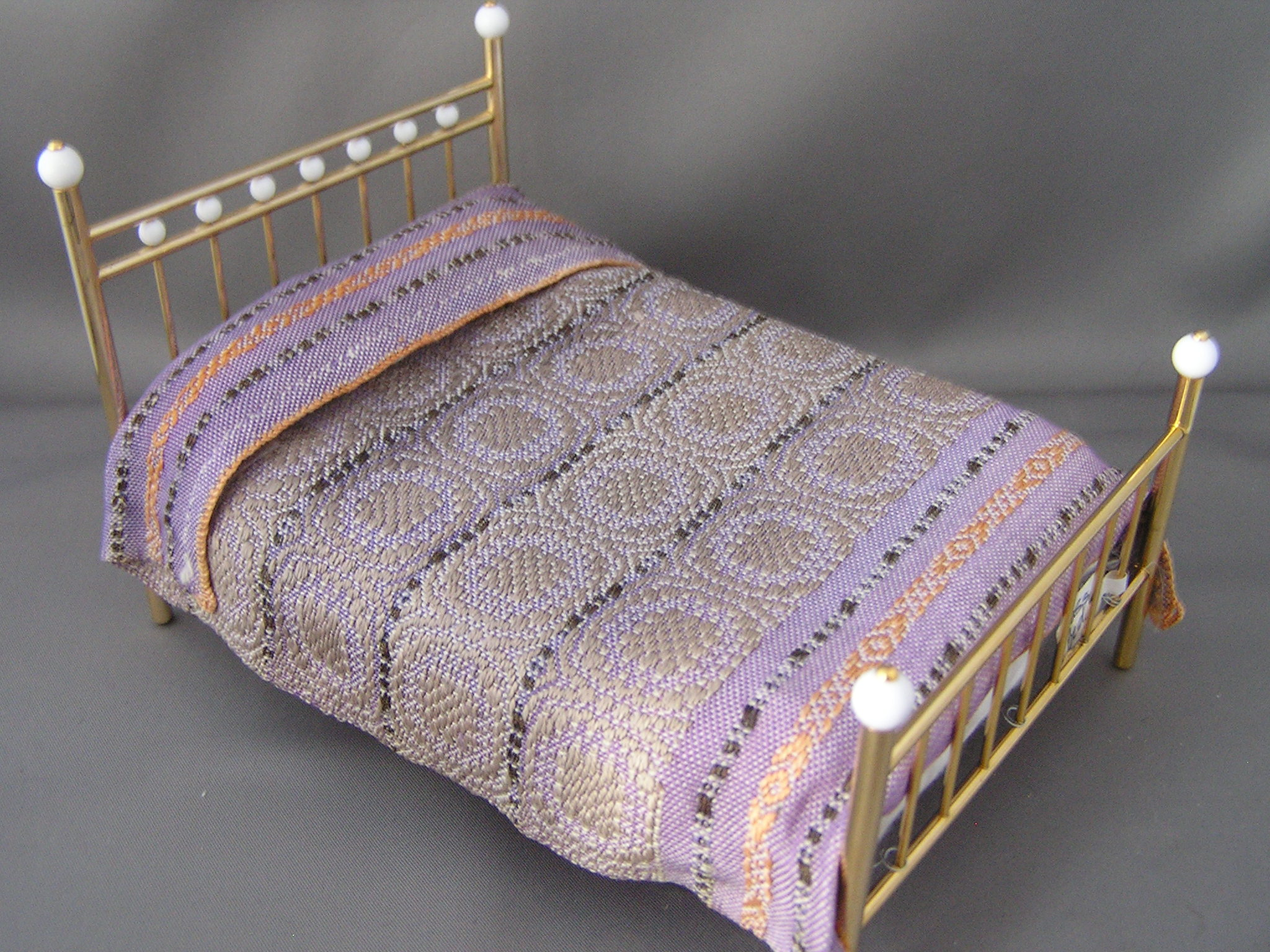 Hand Woven Bed Spread or Carpet, Shades of Lavender