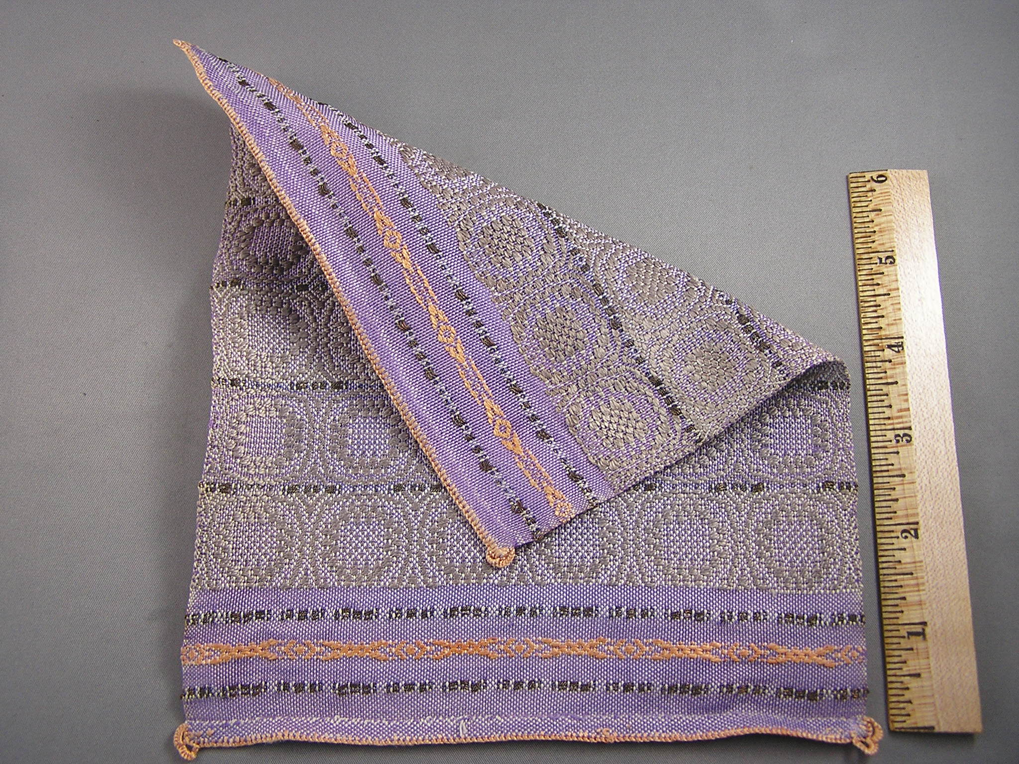 Hand Woven Bed Spread or Carpet, Shades of Lavender - Click Image to Close