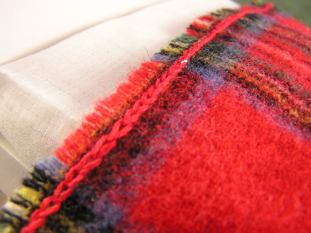 Red Wool Plaid Blanket